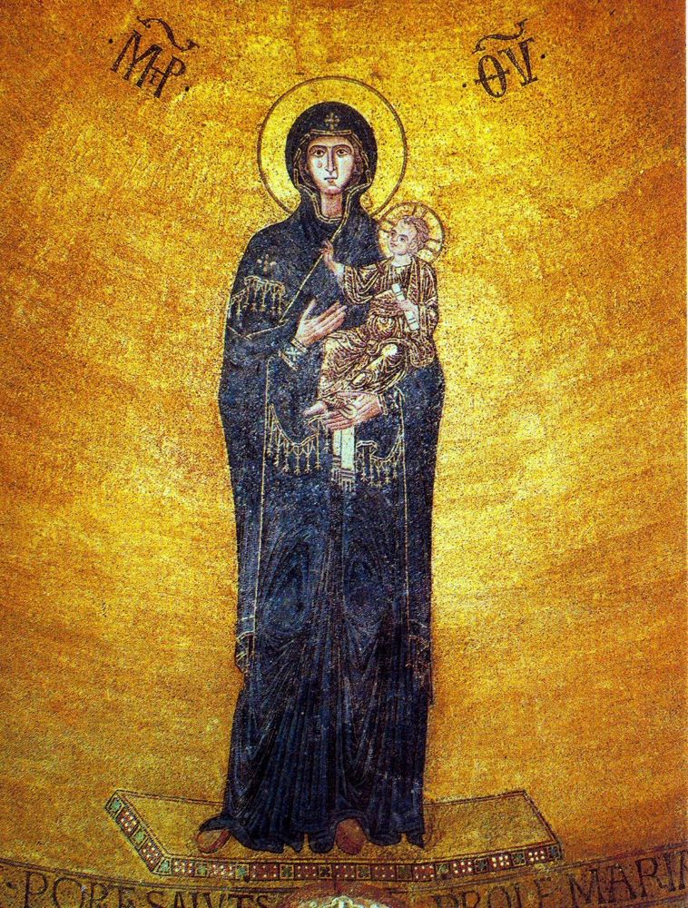 Basilica of Torcello, Virgin Mary, 12th c.