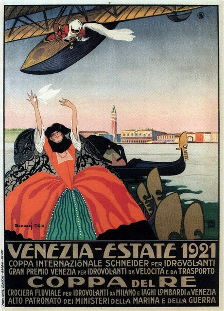 Poster Venezia coppa idrovolanti 1921
