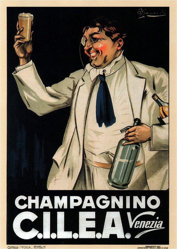 Poster champagnino cilea Venezia