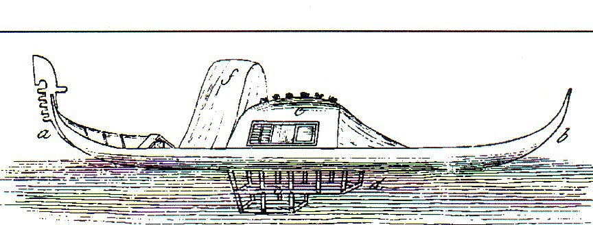 gondola with bath, 1865