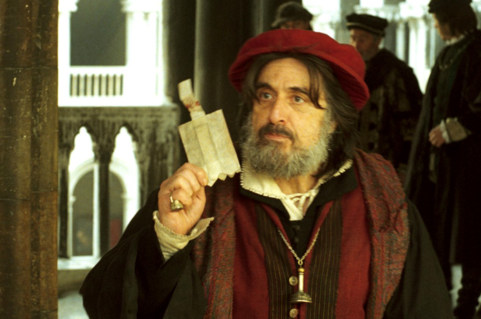 Al Pacino in The Merchant of Venice, 2004.