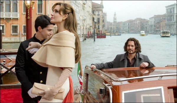 The Tourist, 2010 with stars Angelina Jolie and Johnny Depp.